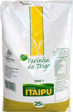 Farinha de trigo Itaipu tipo 1 - Saco 25 Kg