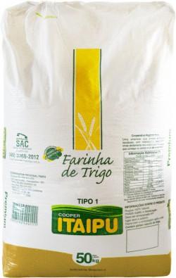 Farinha de trigo Itaipu tipo 1 - Saco 50 Kg