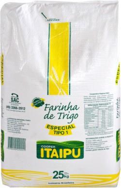 Farinha de trigo Itaipu Especial tipo 1 - Saco 25 Kg