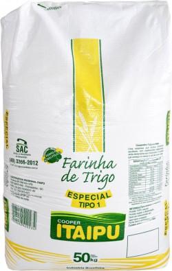 Farinha de trigo Itaipu Especial tipo 1 - Saco 50 Kg